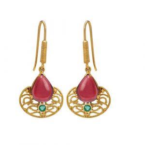 Garnet & Emerald Drops