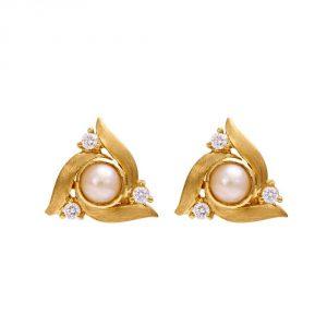 Diamond and Pearl Studs