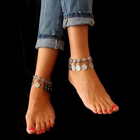 Modern Silver Anklets